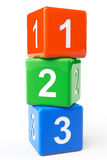Numbers blocks. Numbers colorful blocks on a white background Stock Images