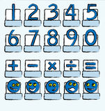 Numbers blue Royalty Free Stock Photo