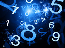 Numbers blue abstract background Royalty Free Stock Photography