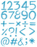 Numbers in blue colors Stock Photos