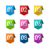 Numbers bookmarks. Design element illustration Royalty Free Stock Photo