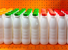 Numbers of bottles yogurt.Still-life Stock Photo