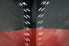 Numbers on bow of icebreaker Kapitan Dranitsyn Royalty Free Stock Photo