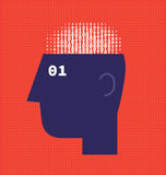 Numbers Brain Royalty Free Stock Image