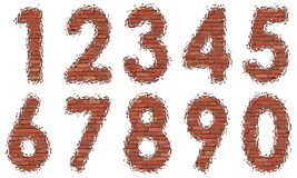 Numbers of bricks Stock Images