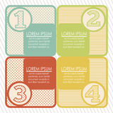 Numbers Brochure Royalty Free Stock Images