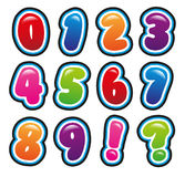 Numbers. In bubble and bright font Royalty Free Stock Photos