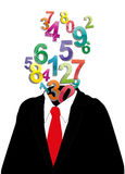 Numbers Businessman Royalty Free Stock Photo
