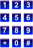 Numbers Buttons Royalty Free Stock Image