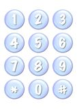 Numbers buttons vector illustration