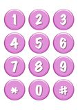 Numbers buttons Stock Photo