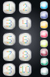Numbers buttons Stock Image