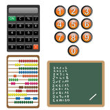 Numbers and calculation design elements Stock Photos