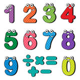 Numbers cartoon characters. Happy numbers cartoon characters. Vector illustration Vector Illustration