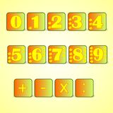 Numbers, cdr vector Royalty Free Stock Photography