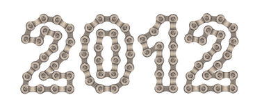 Numbers of chain. The numbers are made of chain gear royalty free stock images