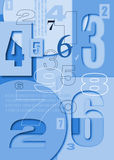Numbers Characters On The Volume Background Royalty Free Stock Image