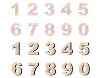 Numbers check Stock Image