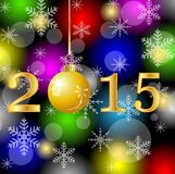 Numbers 2015 on a christmas bright background Stock Images