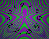 Numbers in circle. Black numbers in circle with twirl background vector illustration