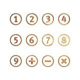 Numbers in circles Stock Images