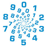 Numbers Circular Blue Stock Photography