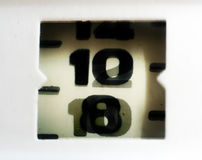 Numbers close-up Royalty Free Stock Images