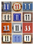 Numbers 11 royalty free stock image