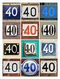 Numbers 40 Stock Images