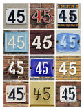 Numbers 45 Stock Photos