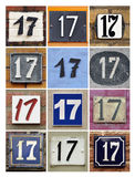 Numbers 17 Royalty Free Stock Photo