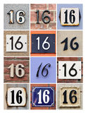 Numbers 16 Royalty Free Stock Images