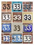 Numbers 33 Stock Photos