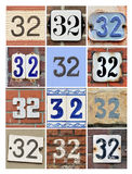 Numbers 32 Royalty Free Stock Photos