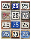 Numbers 25 Royalty Free Stock Photos