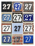 Numbers 27 Stock Image
