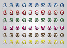 Numbers. Color numbers set with - sewing border Stock Image