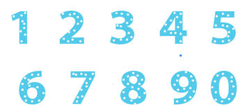 Numbers colored. Colored abstract numbers from one to ten vector illustration