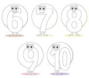 Numbers for coloring books, part 2 royalty free stock image