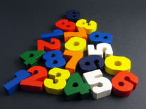 Numbers colors pyramid Royalty Free Stock Photography