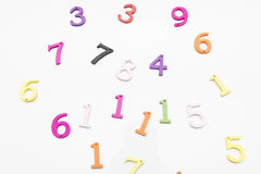 Numbers of colors Royalty Free Stock Image