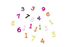 Numbers of colors Stock Photo