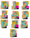 Numbers in Colourful Background - Simple. Numbers 0 to 9 in colourful background vector illustration