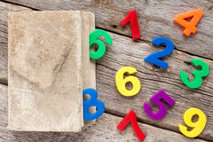 Numbers coming out from  book Royalty Free Stock Image