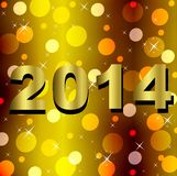 Numbers of coming year 2014 on a bright background. Illustration Royalty Free Stock Photography