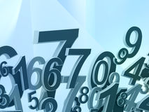 Numbers composition Royalty Free Stock Photo