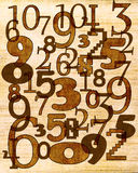 Numbers composition Royalty Free Stock Image