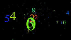 Numbers stock video