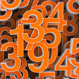Numbers concept Stock Photography