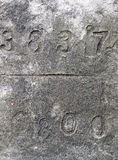 Numbers on concrete surface Stock Photography